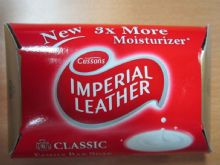 Cussons IMPERIAL LEATHER Original Rich, Creamy Lather - 3 X Ivory Bars